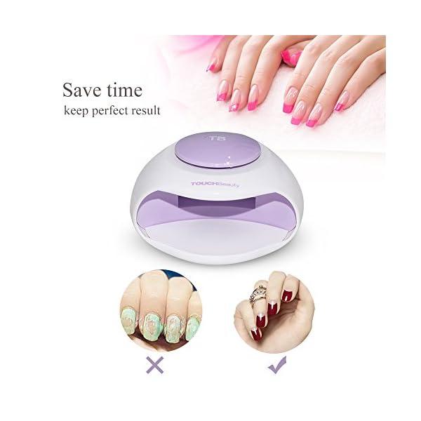 TOUCHBeauty secador uñas aire, Secador de Uñas Portátil con Aire y Luz LED Ideal para Esmalte de Uñas Regular, Tamaño…