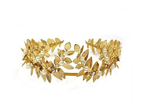 (Blätterkrone, Haarkrone, im Stil einer Griechischen Göttin, Lorbeerblätter-Tiara, Krone – römischer Kopfschmuck, Brautschmuck Hochzeitsaccessoire)