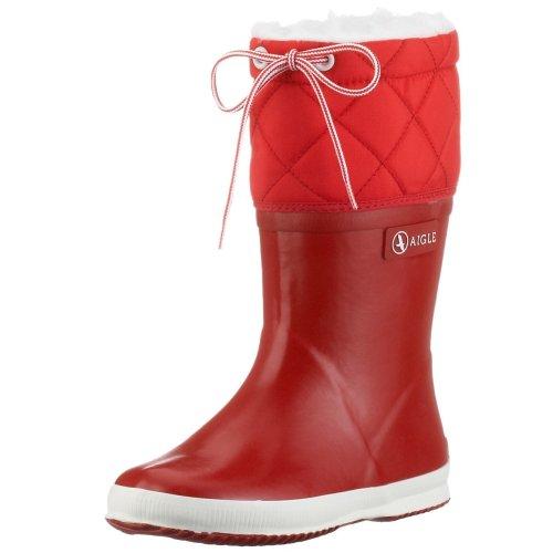 Aigle Unisex-Kinder Giboulée  Gummistiefel Rot (rouge / blanc 8) 23 EU