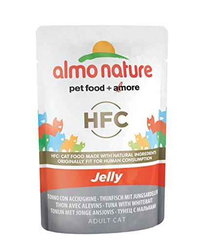 Almo Nature Classic in Jelly Katzenfutter mit Thunfisch und Jungsardinen, 24er Pack (24 x 55 g)