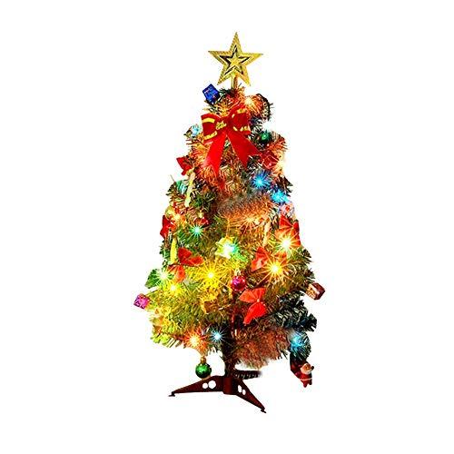 Mini Weihnachtsbaum Puppenhaus Geschmückt, Buntes Glühen Mini Weihnachtsbaum Geschmückt, Christbaum Grün, Geeignet Für Weihnachtsdekoration, Heimtextilien