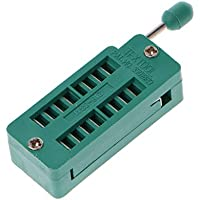 BIlinli 16 20 24 28 40 P Pin 2.54MM Green Dip Test Universal ZIF IC