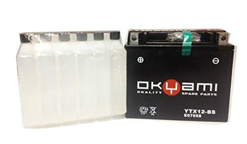 BATTERIA OKYAMI YTX12-BS CON ACIDO