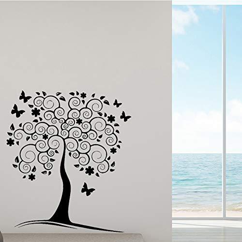 Pretty Tree Vinyl Selbstklebende Tapete Dekor Wohnzimmer Schlafzimmer Abnehmbare Home Party Decor Tapete 43 cm X 48 cm