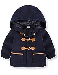 JiaMeng Chaqueta Ropa Manga Larga Acolchado Outerwear para Niños Otoño Invierno con Capucha Abrigo Capa Capa Gruesa Ropa de Abrigo