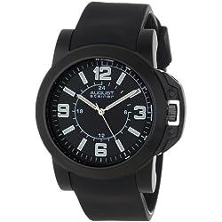 August Steiner Herren AS8057BK Quartz Sport Silicone Strap Armbanduhr