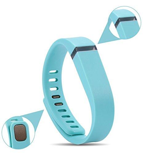EVANA Smart FTBit Bracelet Replacement Bands, Pedometer, Sleep Tracker FitBit Style Bands (black) (blue)