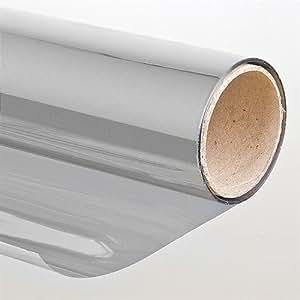 Pellicola autoadesiva antisolare effetto specchio 75x900 cm argento protezione fai - Pellicola specchio vetri ...