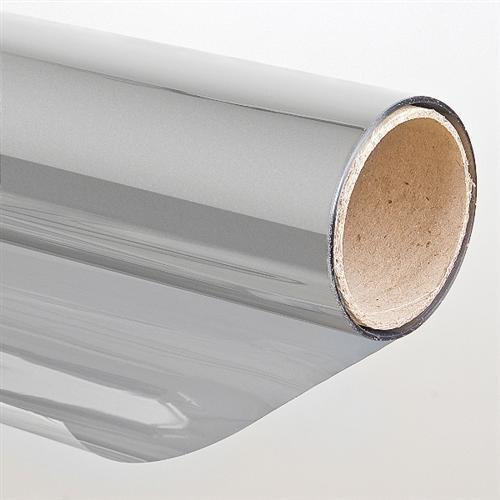 Folien-Gigant Sonnenschutzfolie, Spiegeleffekt silberfarben 152cm, 1000 cm - Tagsüber Flüssigkeit