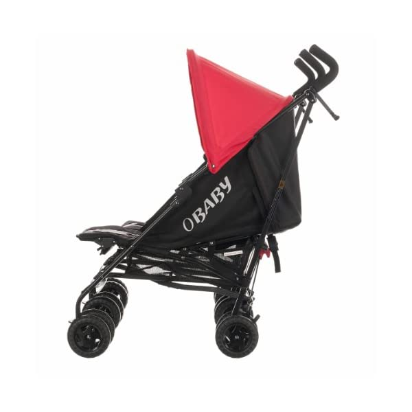 Obaby Apollo Black & Grey Twin Stroller (Red) Obaby Suitable from birth to a maximum weight of 15kg Independently adjustable multi position seat units Independently adjustable hoods 4