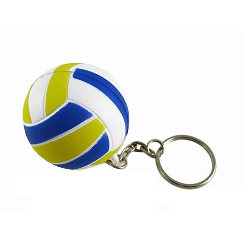 Vococal Schlüsselbund Neue Süße Blaue Gummi Mini Volleyball Geformt Schlüsselanhänger