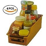 INOVERA (LABEL) Vegetable Food Storage Organiser Basket Kitchen Rack (Set Of 4), Assorted Color, 26L X 10B X 8H Cm.