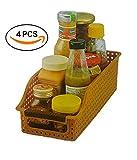 #10: INOVERA (LABEL) Vegetable Food Storage Organiser Basket Kitchen Rack (Set of 4), Assorted Color, 26L x 10B x 8H cm.