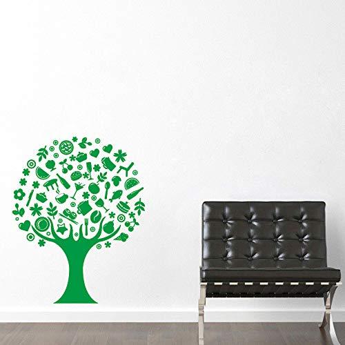 Zaosan Vinyl wandaufkleber kreative Baum Muster abnehmbare wandtattoo Wohnzimmer esszimmer wanddekoration