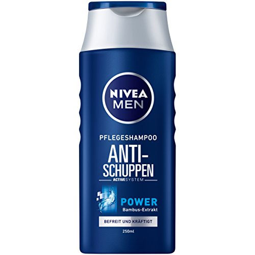NIVEA Men 4er Pack Haar-Pflegeshampoo Anti-Schuppen, 4 x 250 ml Flasche, Power