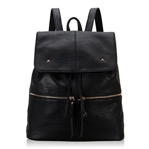 Veevan Damen Designer ultra-schicke tähliche Rücksack(schwarz)