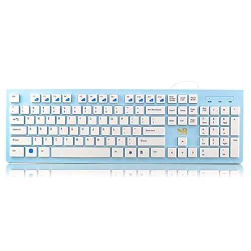 Preisvergleich Produktbild Normia Rita Verdrahtet Ultra Thin Ergonomische Tastatur Usb Multimedia Kleine Full Size Ruhige Tastatur Für Pc Computer Laptop