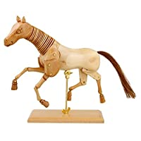 US Art Supply® Wooden Horse Artist Drawing Manikin Articulated Mannequin (16 Horse) by US Art Supply