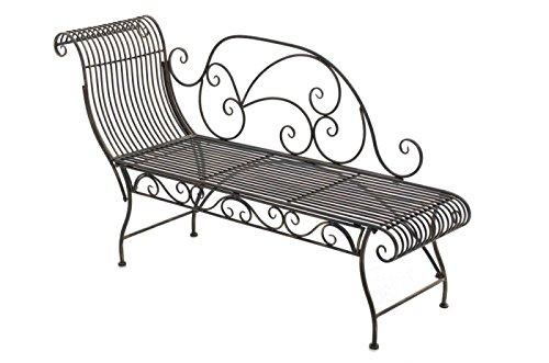 Gartenbank Elegante l Gartenliege l Recamiere aus Metall l bronze