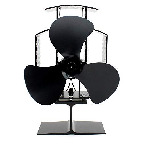 Ventilatore A Stufa A 4 Pale Potente Termoventilatore Per Stufa A Legna / Bruciatore Di Tronchi / Camino Aumenta Dell80% Di Aria Calda Più Rispetto