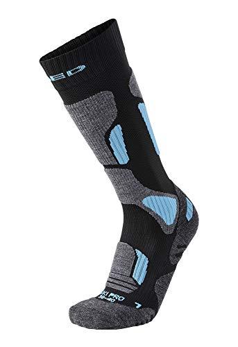 Xaed c100548-002 calza sci tecnica, donna, nero/azzurro, 38/40