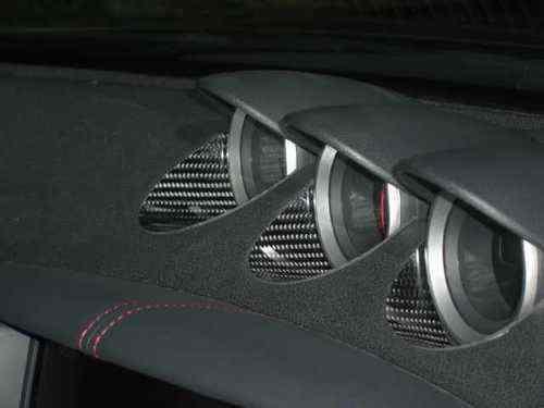 Carbon Einlagen Zusatzanzeigen Center Console Dash Trim passend für 370Z (350z Carbon)