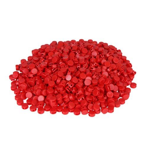 Preisvergleich Produktbild 1000 St. Kunststoffplomben rot 8mm - Plomben
