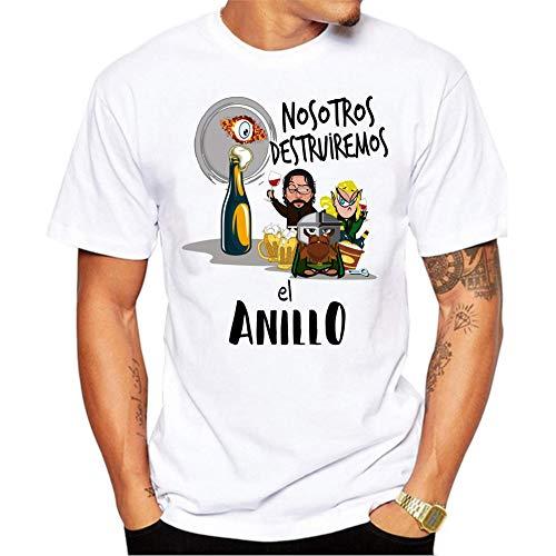 MardeTé Camiseta Despedida de Soltero. Nosotros destruiremos el Anillo. Camiseta a Juego con la de Novio Yo llevaré el Anillo Camiseta para Grupos de Despedida de Soltero. (XL)