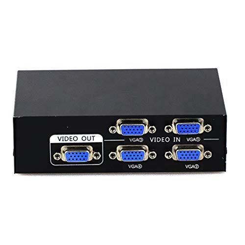 2/4 In 1 Out VGA Signal Switcher Box Computer Laptop Desktop Monitor Video Converter 1080P VGA Switch -