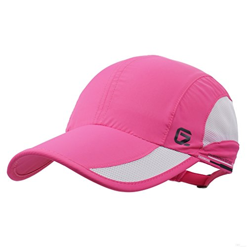 GADIEMKENSD Quick Dry Sports Hat Lightweight Breathable Soft Outdoor Run Cap (Classic up, DeepPink) Tennis Hat