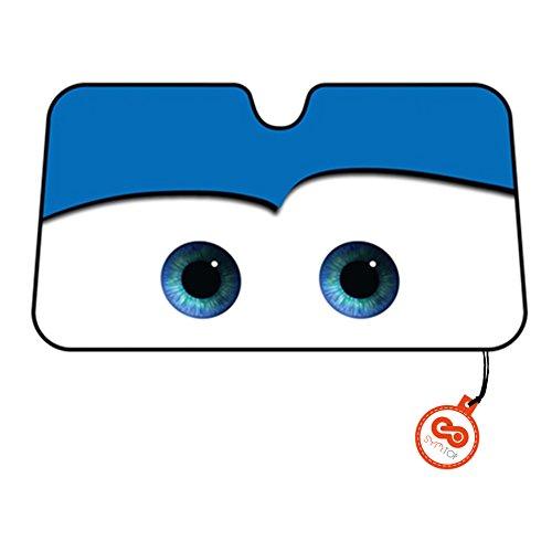 Parasole-frontale-per-auto-motivo-occhi-stile-cartone-animato