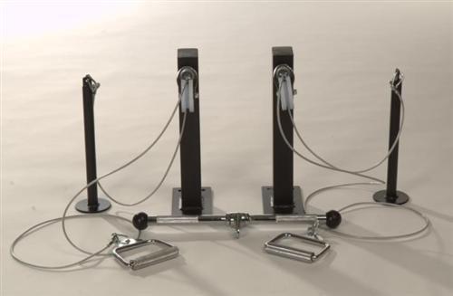 CLP Poleas + set de agarre para montaje en la pared, incluye materiales de fijación y barra de agarre negro