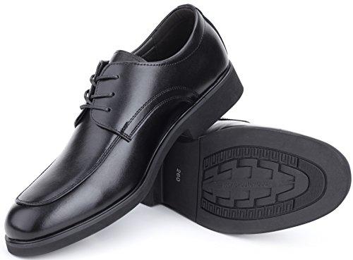 Marino Avenue Herren Derby-Schuhe - Leder - Klassisch & Elegant Schwarz - Schnüren
