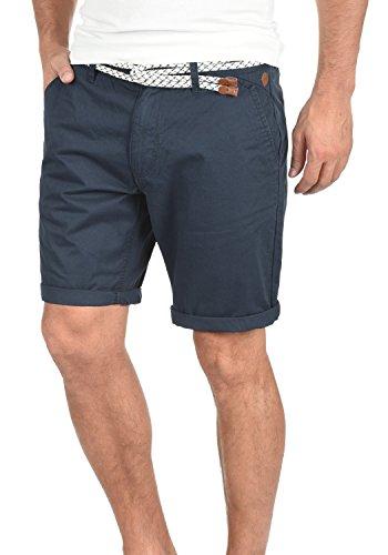 BLEND Ragna Herren Chino-Shorts kurze Hose Business-Shorts mit Gürtel aus 100% Baumwolle India Ink (70151)