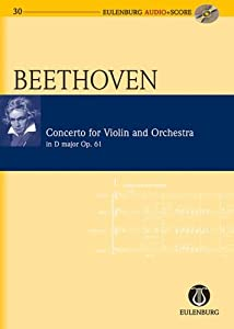 Concerto D major op. 61 - for Violin and Orchestra - violin and orchestra - study score + CD - (EAS 130) from Eulenburg