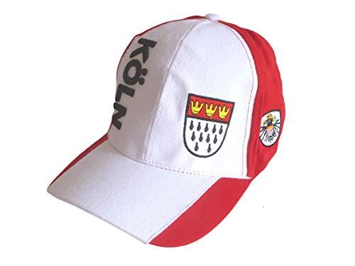 Kostüm Köln Rot Weiß Herren - Makotex Damen Herren Kappe Köln mit