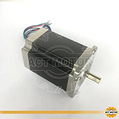 ACT Motor GmbH 1 Stück Nema23 Stepper Motor 23HS9430D8P7.5-15 Schrittmotor 2.8-4.0A 80mm 150-220Ncm CNC industrielle Automation Maschinen