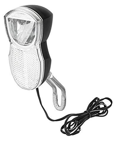 LED Fahrradscheinwerfer für Nabendynamo mit Schalter Standlicht 1 Watt 100 Lumen
