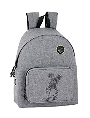 """Day Pack Infantil Mickey Mouse """"Multiply"""" Oficial 330x150x420mm por Safta"""