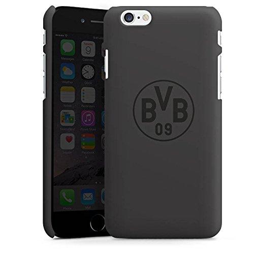 Apple iPhone 6 Hülle Case Handyhülle Borussia Dortmund BVB Logo grau Premium Case matt