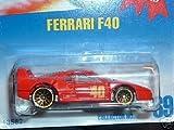 Mattel Hot Wheels 1991 1:64 Scale Red Ferrari F40 Die Cast Car Collector #69
