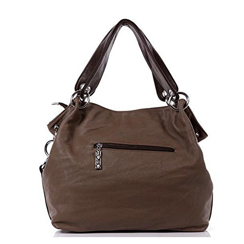 Eysee, Borsa tote donna marrone Green 33cm*32cm*11cm Brown