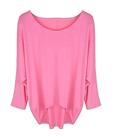 Women's Casual Oversized Baggy Off-Shoulder Shirts Pullover Tops
