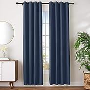 "AmazonBasics Room - Darkening Blackout Curtain Set with Grommets - 245 GSM - 52"" x 96"","