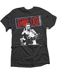 Johnny Cash - Herren Folsom Finger T-Shirt