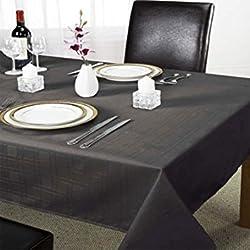 Mantel De Mesa Emma Barclay De Cuadros Color Negro 178x274 cm