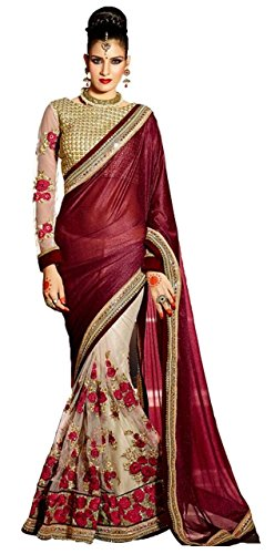 Kanha Fashion Women\'s Net & Lycra Saree (Saree(16)_Multicolor)