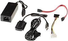 Poppstar - Dispositivo USB 2.0 adaptador para 2,5 y 3,5 pulgadas STA HDD/IDE discos duros, función One Touch Backup (OTB)