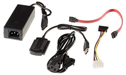 Poppstar Adattatore USB 2.0 per Dischi Rigidi SATA HDD/IDE da 2.5/3.5 pollici, Funzione One Touch Backup (OTB)