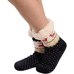 Calcetines de Algodón,ZARLLE Mujeres Suave Cómodo Calcetines de Mascota Divertidos Dibujo imprimen gruesos calcetines antideslizantes del piso Calcetines de la alfombra